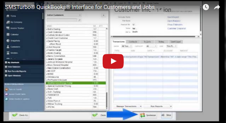 SMSTurbo QuickBooks Jobs and Orders