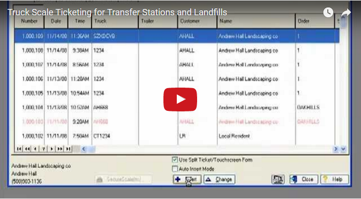 Landfill and Transfer Station Software