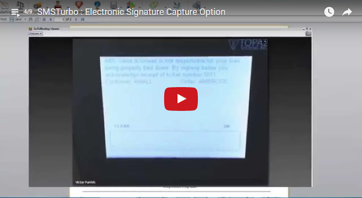 Scale Ticketing Signature Capture