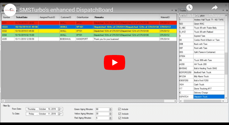 Enhanced DispatchBoard - Assign Trucks, view, manage, and reschedule Dispatch Tickets