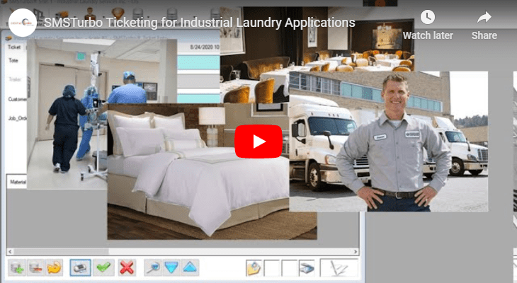 SMSTurbo Ticketing for Industrial Laundry Applications